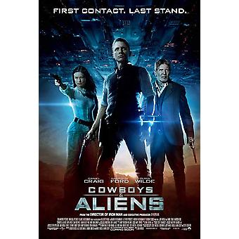 Cowboys and Aliens Movie Poster (11 x 17)