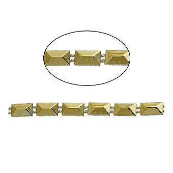 1.8m x Golden Acrylic 6 x 10mm Closed Decorative Link Chain CH2120