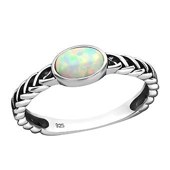 Oval - 925 Sterling Silver Jewelled Rings - W36508X