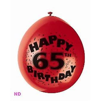 Ballonnen 'Gelukkig 65ste verjaardag' 9