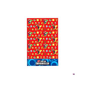 Super Mario Brothers nappe en plastique