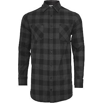 Urban Classics Herren Long Checked Flanell Hemd