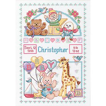 Birth Record For Baby Counted Cross Stitch Kit-10