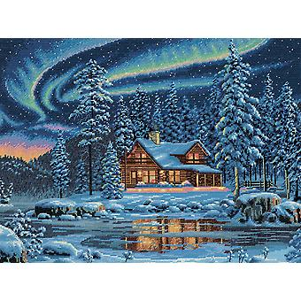 Gold Collection Aurora cabine geteld Cross Stitch Kit-16
