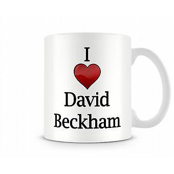 I Love David Beckham Printed Mug