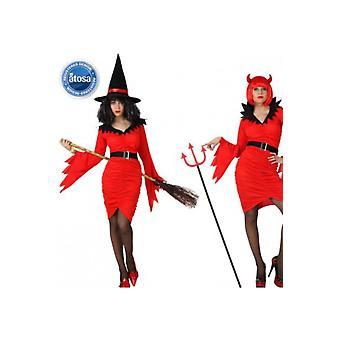 Kvinnor kostymer häxa eller djävul kostym för halloween