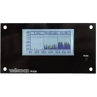 Audio analyser Assembly kit Velleman K8098 12 Vdc