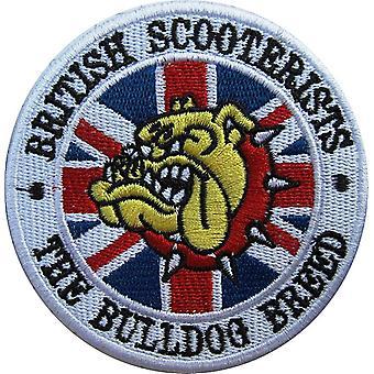 Britische Scooterists Bulldog Rasse, die Runde Nähen-auf Patch gestickt