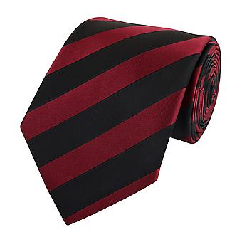Tie slips tie slips 8cm svart mörk röd randig Fabio Farini