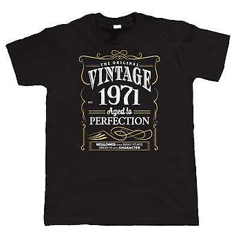 Vintage 1971 Aged To Perfection, camiseta del Mens