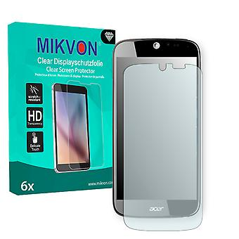 Acer Liquid Jade S55 Screen Protector - Mikvon Clear (Retail Package with accessories) (intentionally smaller than the display due to its curved surface)