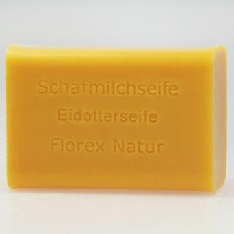 Florex Schafmilchseife Eidotter 100g Stück eckig pflegt und glättet die Haut duftende Öle neue Geschmeidigkeit
