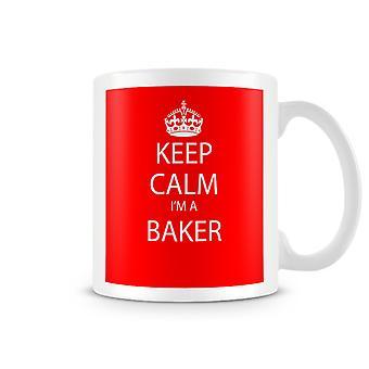 Houd kalm, ik ben een bedrukte mok van bakkers