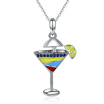 Sterling silver pendant charm Summer drink