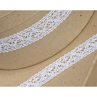 25mm White Cotton Lace Border Ribbon for Craft - 10m | Ribbons & Bows for Crafts