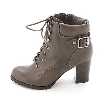 Style & Co. Womens Caitlin Leather Closed Toe Ankle Combat Boots