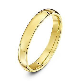 Anneaux de mariage Star 9ct jaune or lourds Cour forme 3mm bague de mariage