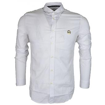 Moschino Slim Fit Stretch White Shirt