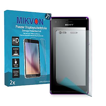 Sony Xperia C1904 Screen Protector - Mikvon Armor Screen Protector (Retail Package with accessories)