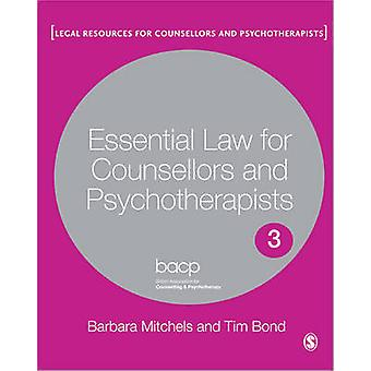 Essential Law for Counsellors and Psychotherapists - Co-Publication wi