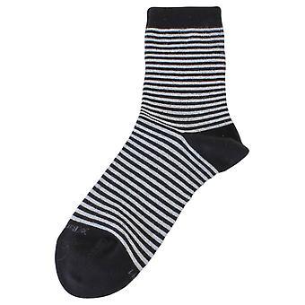 Burlington Ladywell Ringlet Socks - Black/Silver