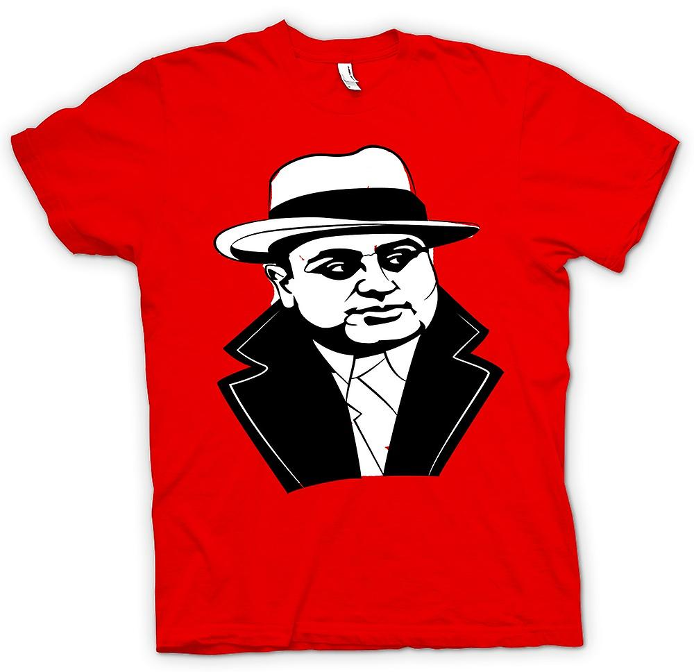 Heren T-shirt - Al Capone - Gangster
