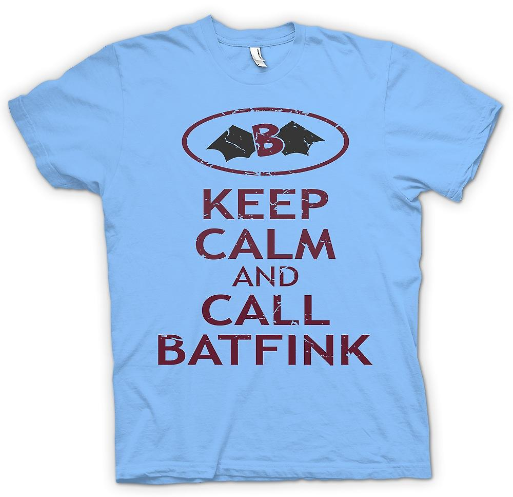 Mens T-shirt - Keep Calm And Call Batfink - Cool Cartoon Inspired