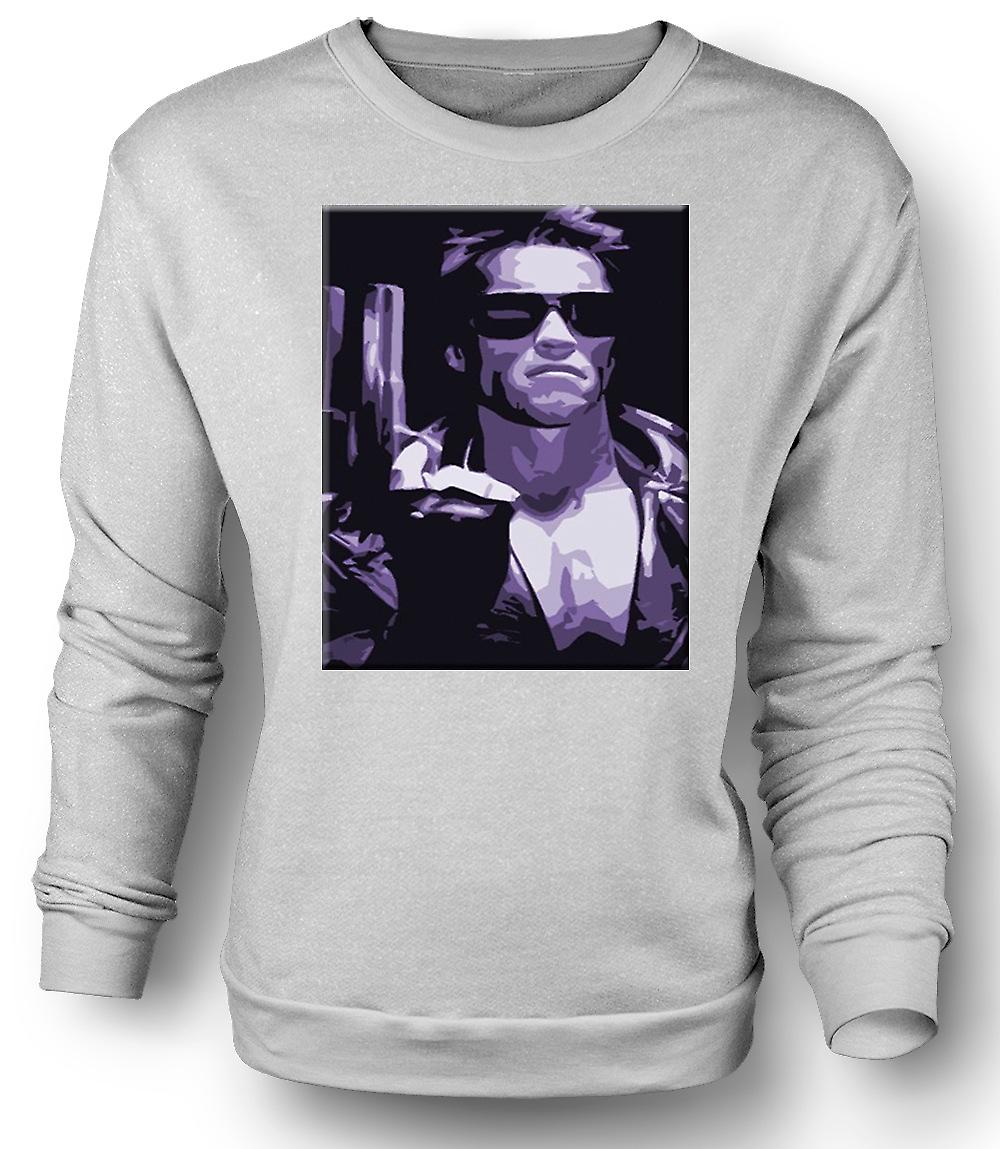 Mens Sweatshirt Terminator - Pop Art - Sci Fi - film