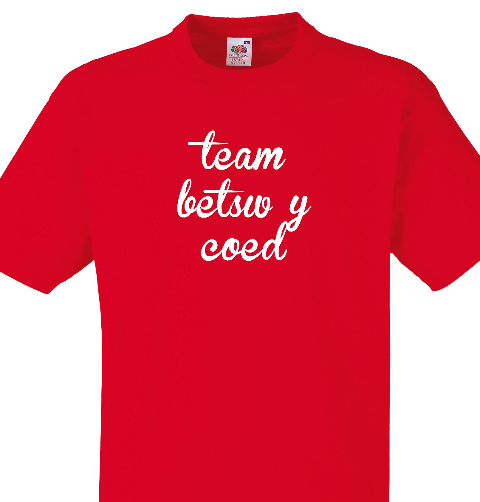 Team Betsw y coed Red T shirt