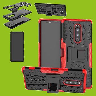 Гибридные случай 2 кусок SWL робот красный Sony xperia 1 6.5 дюймовый дело рукав защиты