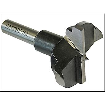 Faithfull HCS Hinge Bore Bit 35mm x 60mm 8mm Shank