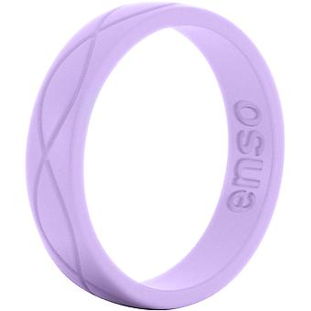 Enso ringer kvinners Infinity serien silikon Ring - lavendel