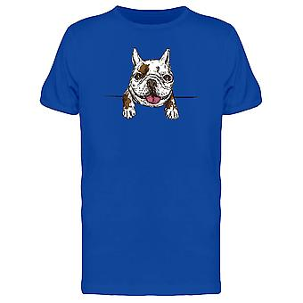 French Bulldog Tongue Out Tee Men's -Image by Shutterstock