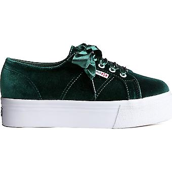 Superga 2790 Velvetchenillew 918 women's sneaker Green