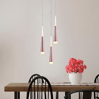 Éclairage plafond pendentif lampe suspendue comète cuivre 3 pendentif rond couvert Bi directionnel