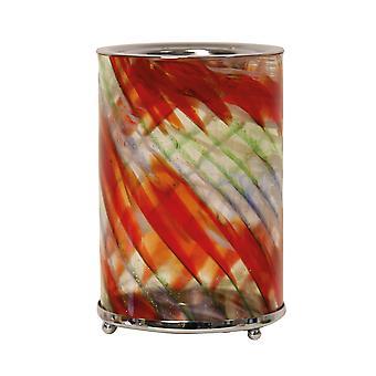 Aroma Kunstglas Wachs schmelzen Brenner, rot Swirl