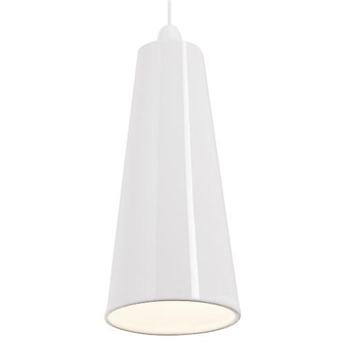 Endon NE-PRESTON-WH Non Electric Handmade White Ceramic Pendant Shade