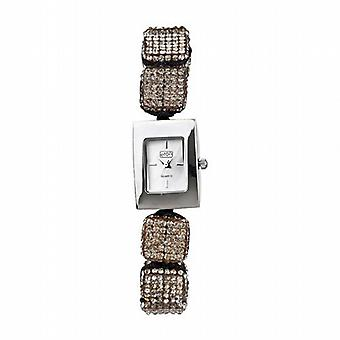Eton Grey Crystal Cube Ajustable Bracelet Strap Ladies Fashion Watch 3020L