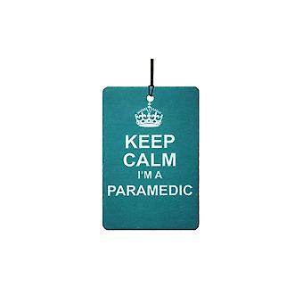 Mantenga calma soy paramédico ambientador