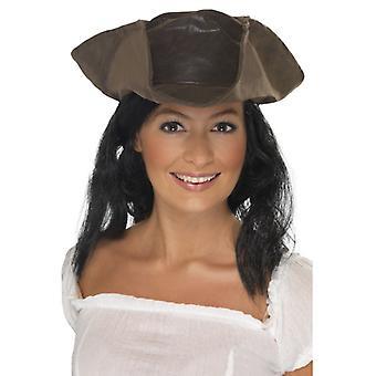 Sombrero de pirata con peluca sombrero y pelo traje del pirata pirata