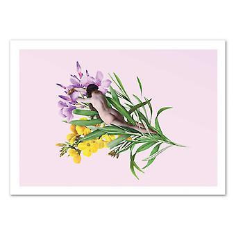 Konst-affisch-blomma-José Luis Guerrero 50 x 70 cm