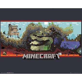 Minecraft Underground Mini affisch 40x50cm
