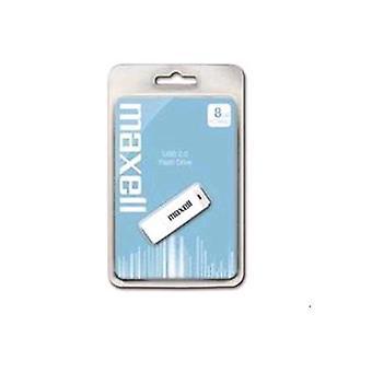 Maxell usb stick 8 gb interfaz usb 2.0 color blanco