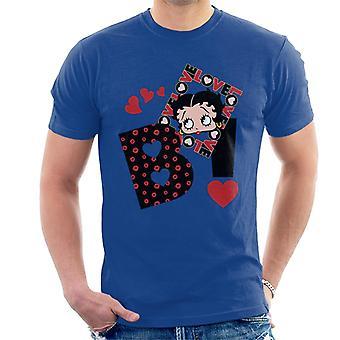 Betty Boop Herz Elemente Männer's T-Shirt