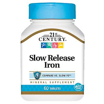 21st century slow release iron, high potency formula, tablets, 60 ea