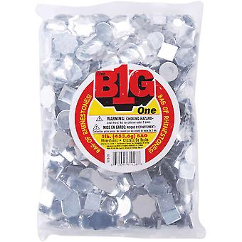 Rhinestone Shapes 1 Pound Pkg Assorted Shapes Clear 1075 20