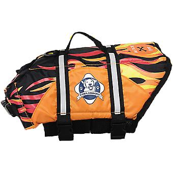 Pfoten an Bord Doggy Schwimmweste Small-Racing Flames S1300-F1300
