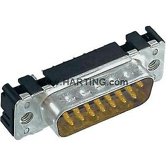 D-SUB pin strip 180 ° Number of pins: 9 Soldering Harting 09 65 161 6712 1 pc(s)