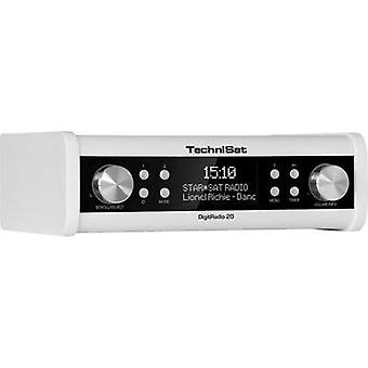 DAB+ Kitchen radio, Radio base component TechniSat DigitRadio 20 AUX, DAB+, FM White