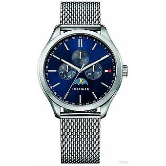 Tommy Hilfiger Mens Oliver Stainless Steel Mesh armband Blue Dial 1791302 Watch